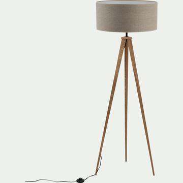 Lampadaire en bois - gris D50cm-TRIX