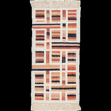 Tapis en coton motifs rectangulaires 60x150 cm-MEDINA
