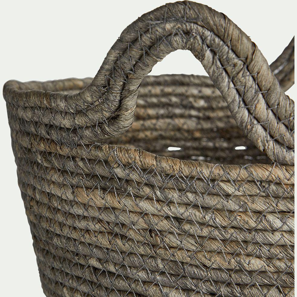 Panier déco en feuilles de maïs D37xH30cm-Milla