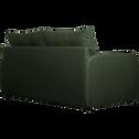 Canapé 3 places convertible déplimmousse en tissu vert cèdre-VINYL