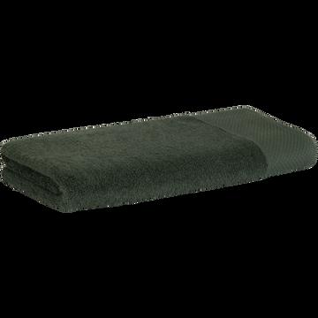 Serviette en coton 50x100cm vert cèdre-AZUR