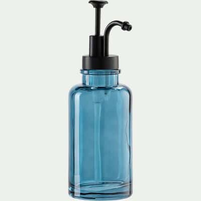 Distributeur de savon en verre - bleu niolon-MIMOSA