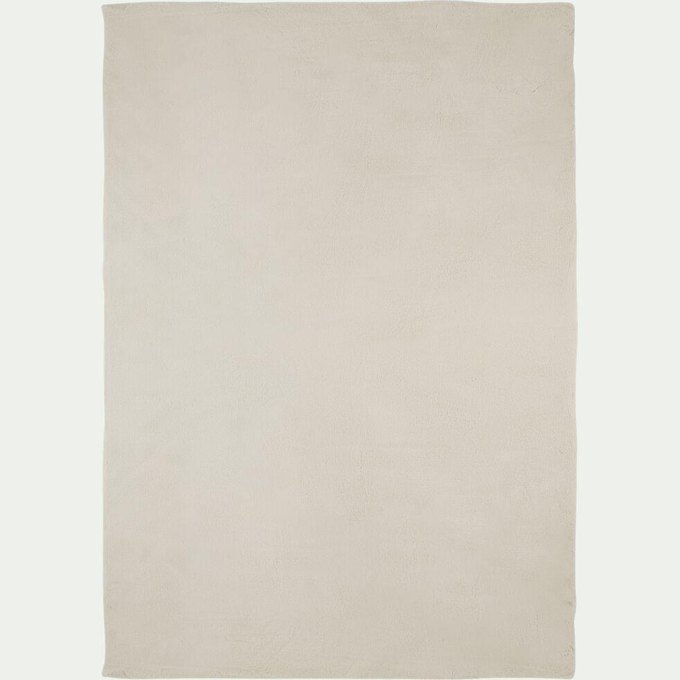 Tapis imitation fourrure - blanc ventoux 160x230cm-JOUVE