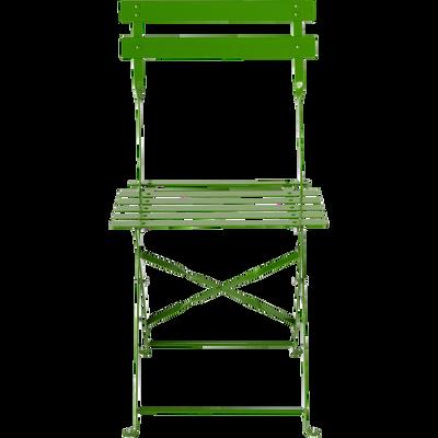 Chaise de jardin pliante vert-CERVIONE
