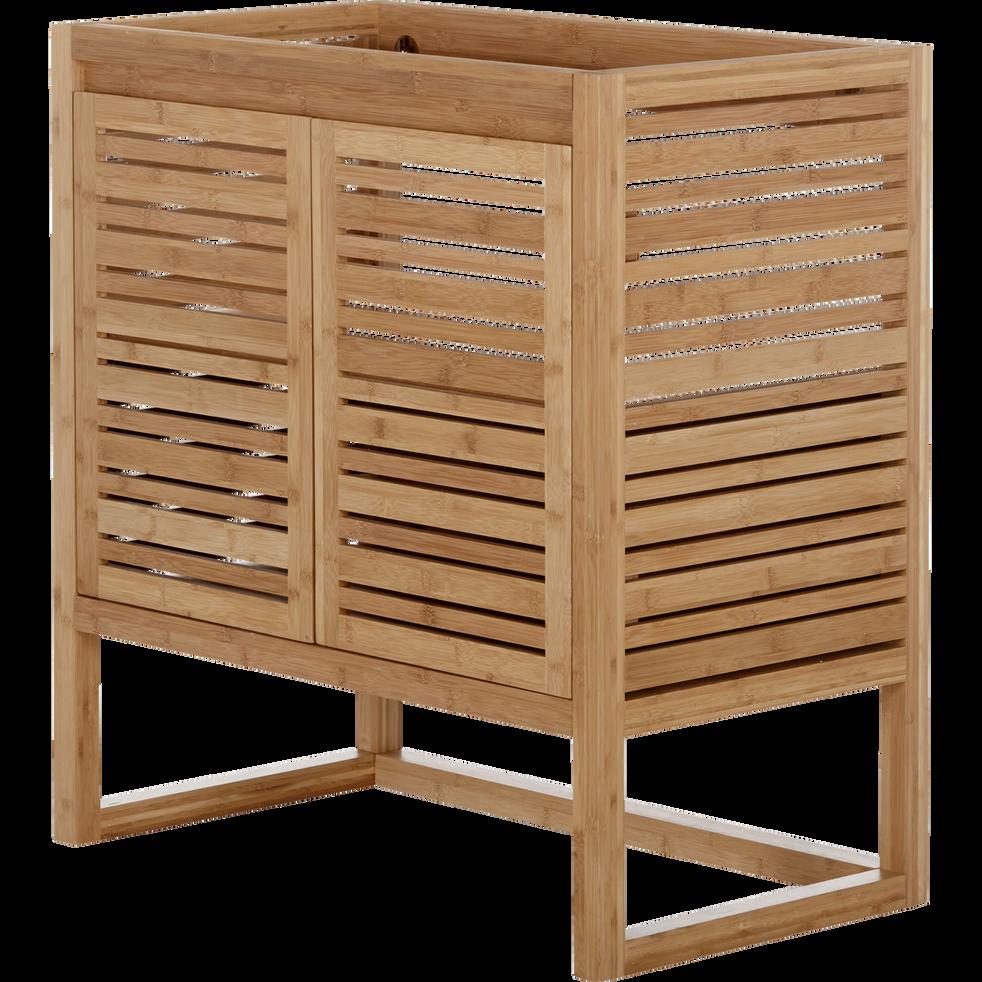 Meuble sous vasque avec portes 80cm danong 80 cm meubles sous vasques alinea - Meuble sous vasque design ...
