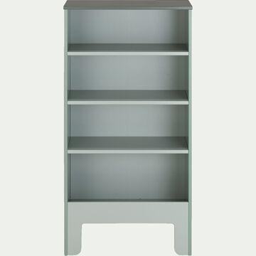 Bibliothèque enfant sans visserie 4 cases - vert cèdre-MINOT