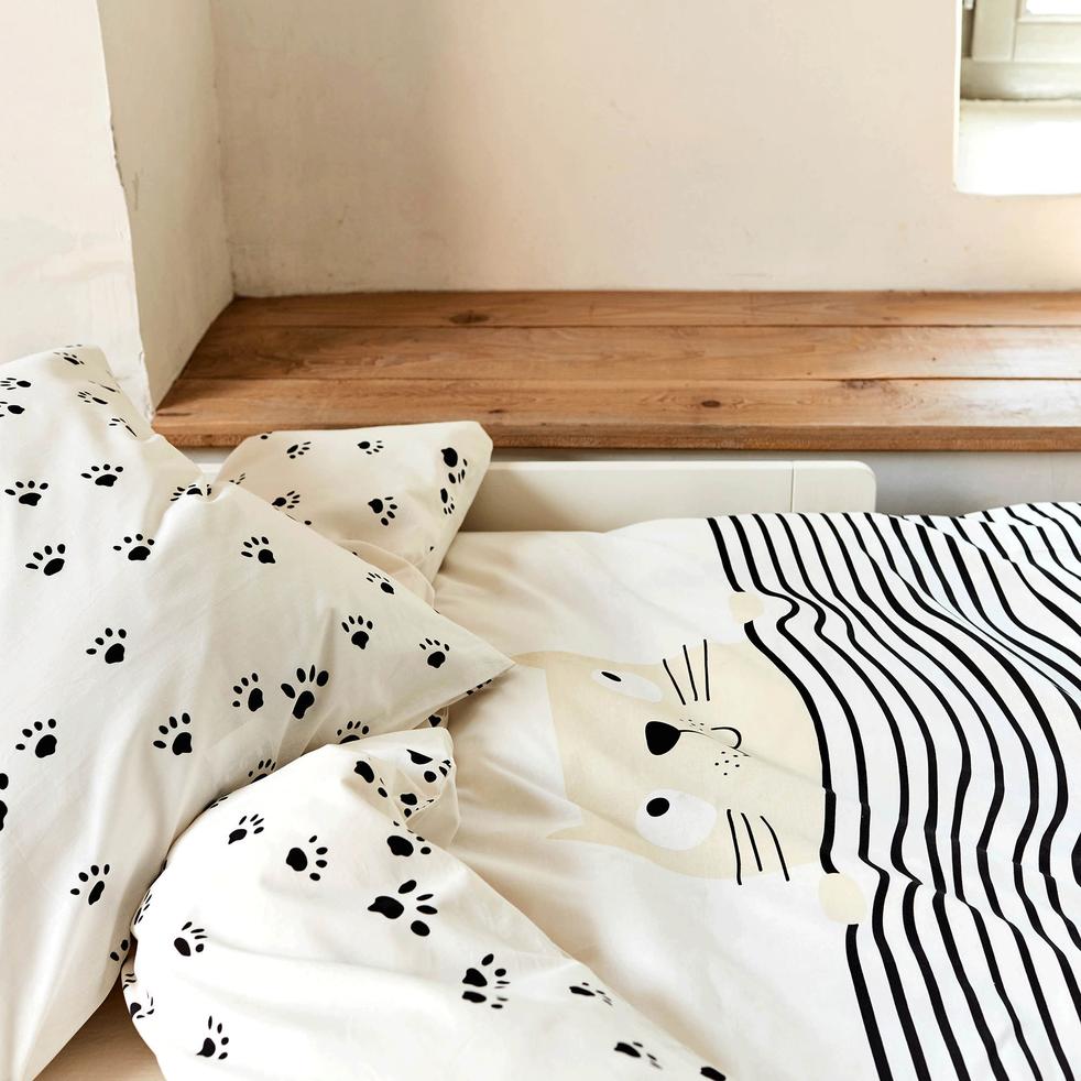 housse de couette enfant 140x200cm et 1 taie d 39 oreiller felix 140x200 cm parures de lit. Black Bedroom Furniture Sets. Home Design Ideas