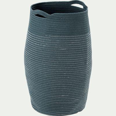 Panier à linge en coton - bleu calaluna H65xD35cm-Vincent