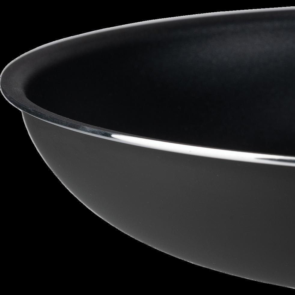 Poêle en aluminium noir D28cm-SOU