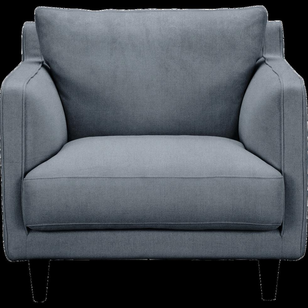 fauteuil en velours gris restanque lenita fauteuils et poufs alinea. Black Bedroom Furniture Sets. Home Design Ideas