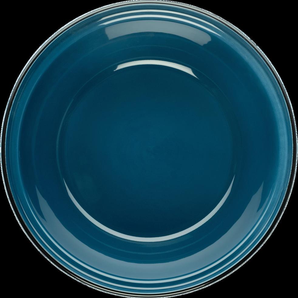Tajine avec couvercle en faïence bleu figuerolles-LANKA