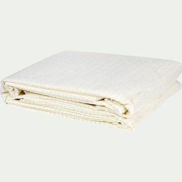 Tapis antidérapant en polyester - blanc 50x80cm-Antigliss
