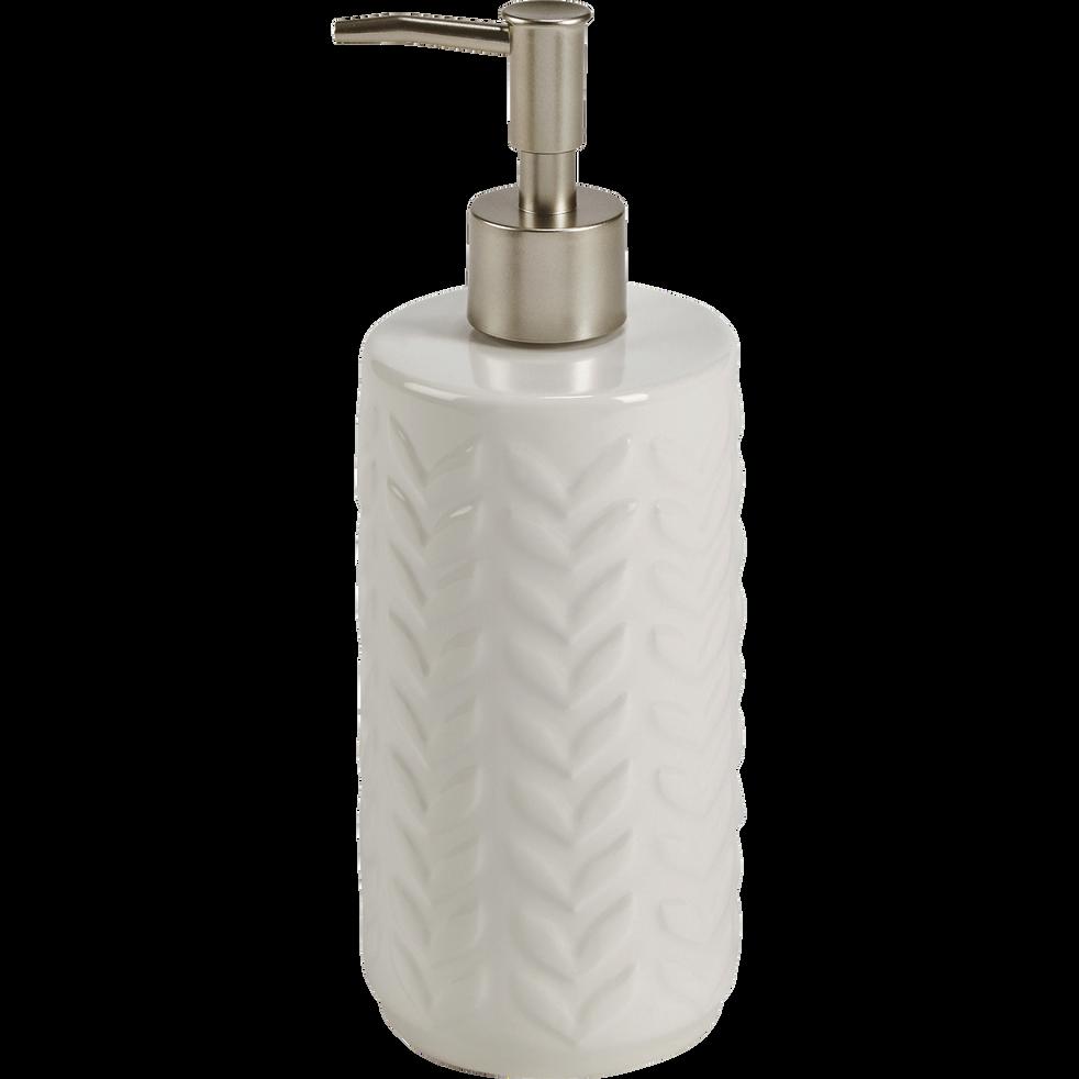 Distributeur de savon en faïence à motifs feuilles-FOGLIA