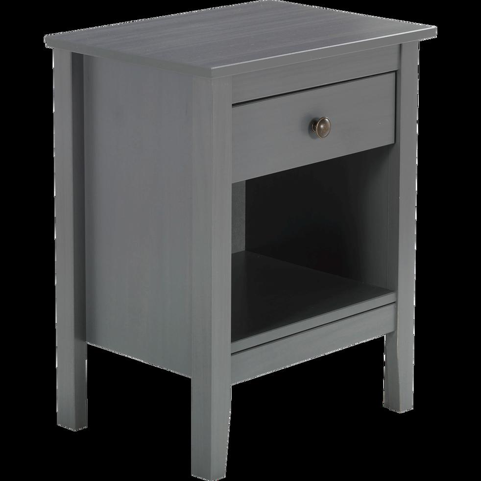 Table de chevet en pin massif gris 1 tiroir et 1 niche lison catalogue storefront alin a - Table de chevet en pin massif ...