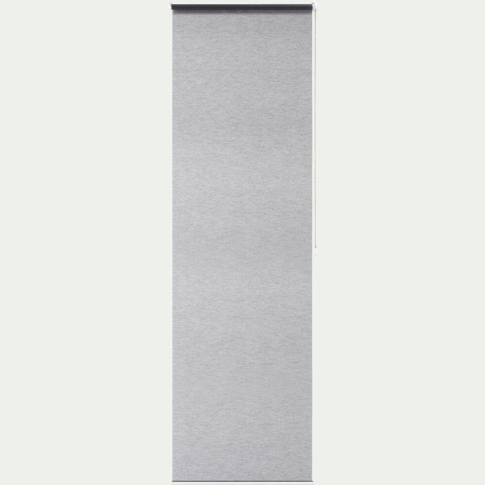 Store enrouleur voile - gris 37x170cm-EASY VOILE