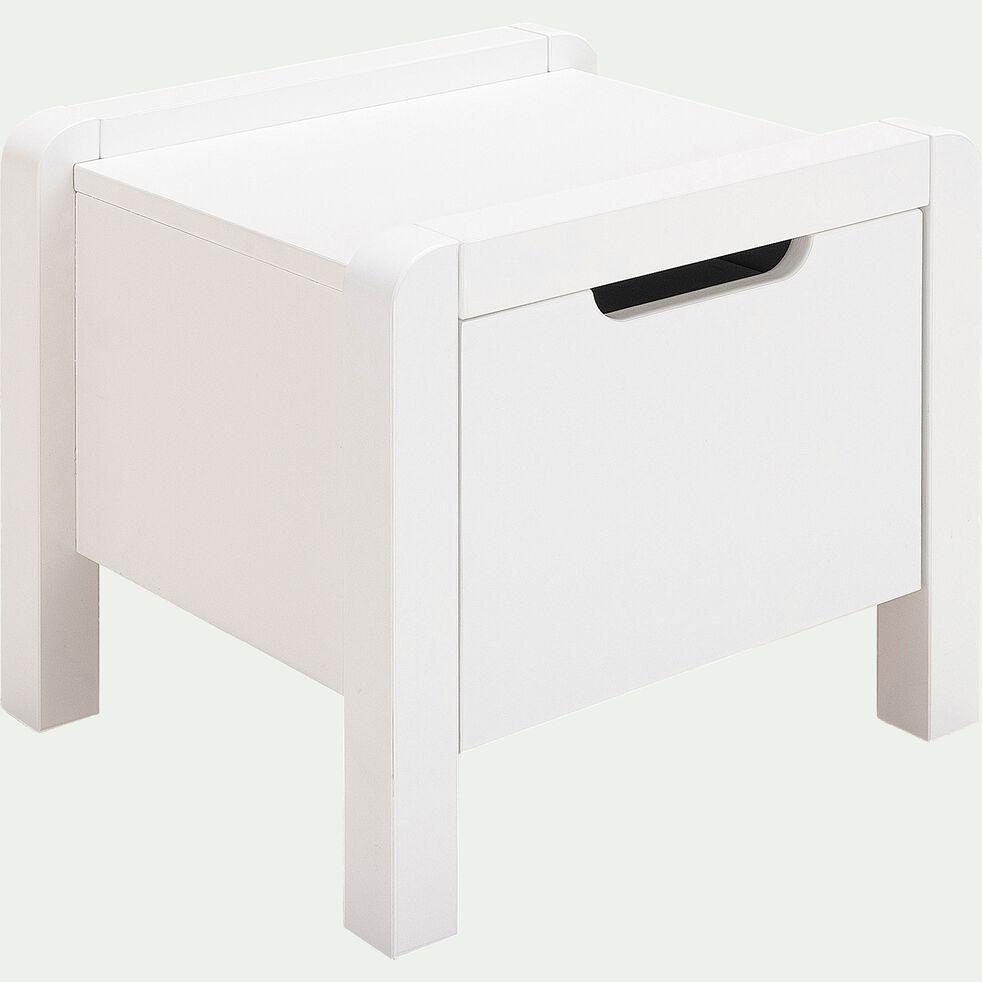 Table de chevet en bois - blanc-JAUME