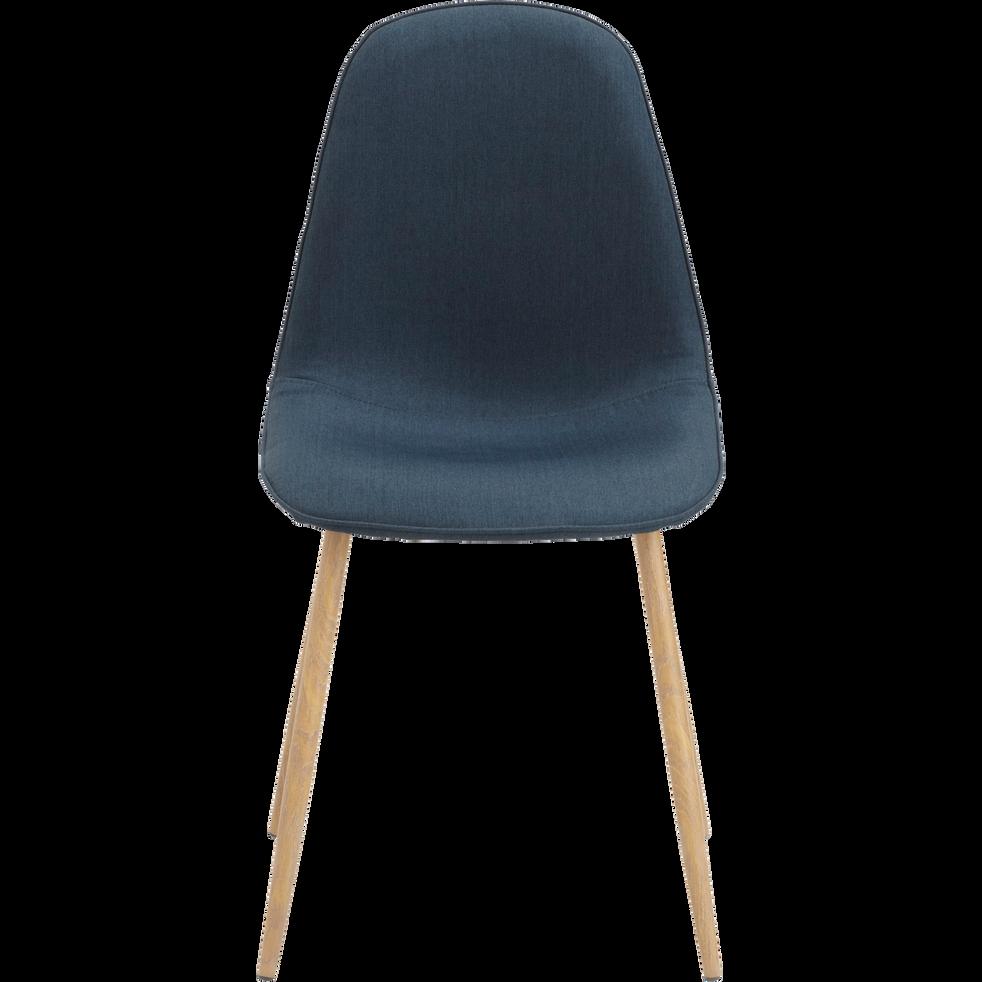 Chaise en tissu bleu-CHARLIE