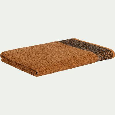 Drap de bain en coton bouclette - marron 100x150cm-NIL