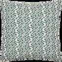 Coussin blanc à motifs vigne vert 40x40 cm-VIGNE
