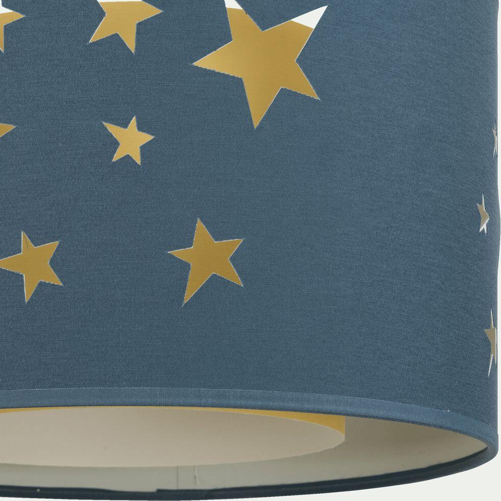 Abat-jour avec découpe motif constellation d35cm - bleu figuerolles-Constel