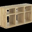 Étagère 6 cases en chêne-Tassia