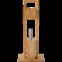 Dérouleur de papier toilette et porte-balais WC en bambou-BAMB