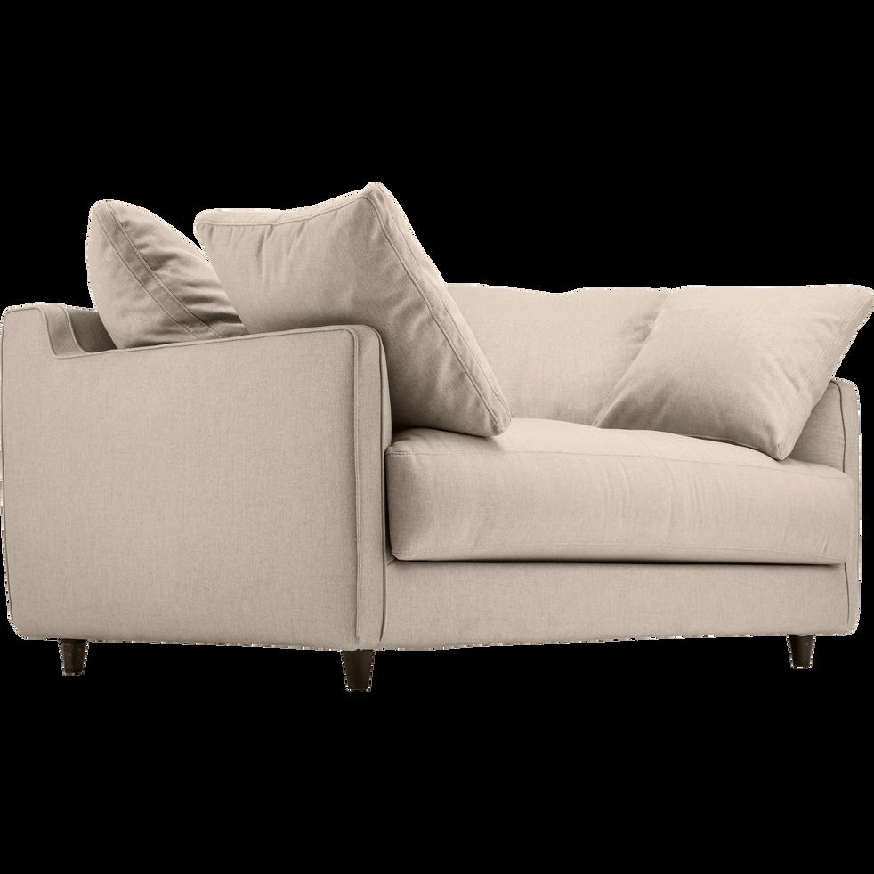 canap 2 places convertible en tissu beige roucas lenita. Black Bedroom Furniture Sets. Home Design Ideas