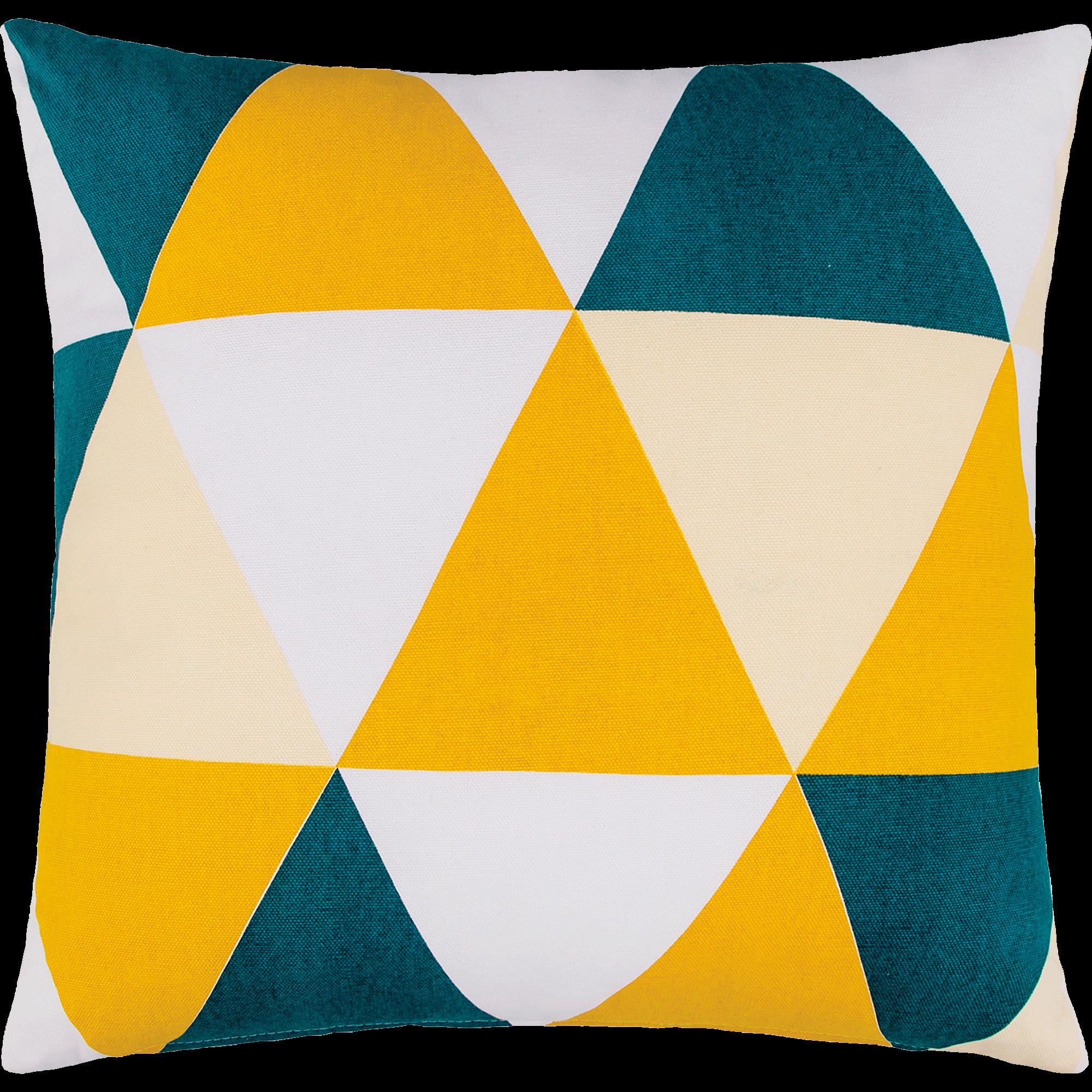 Coussin en coton à motifs triangles 45x45