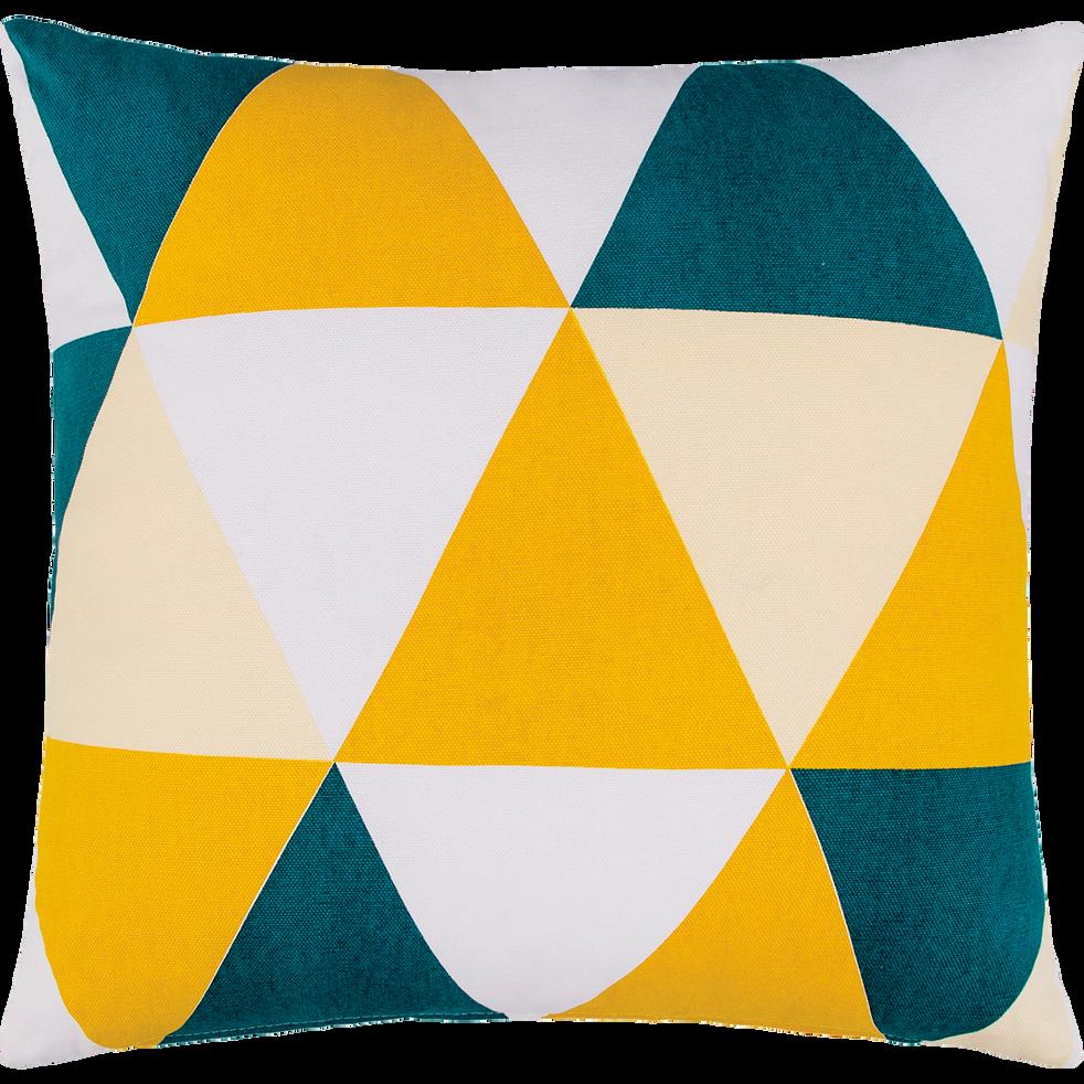 Coussin en coton à motifs triangles 45x45cm-TRIANGLE