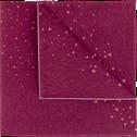 Lot de 20 serviettes intissé rouge à motifs 40x40cm-LYRE