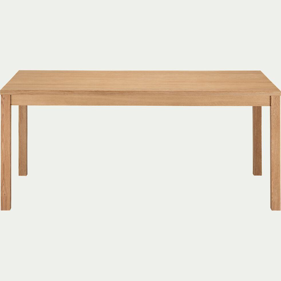 Table de repas fixe rectangulaire plaquée chêne  (4 à 6 places) - naturel-LOMI