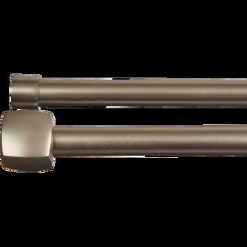 Kit double tringle extensible en acier 170 à 300 cm-LISON