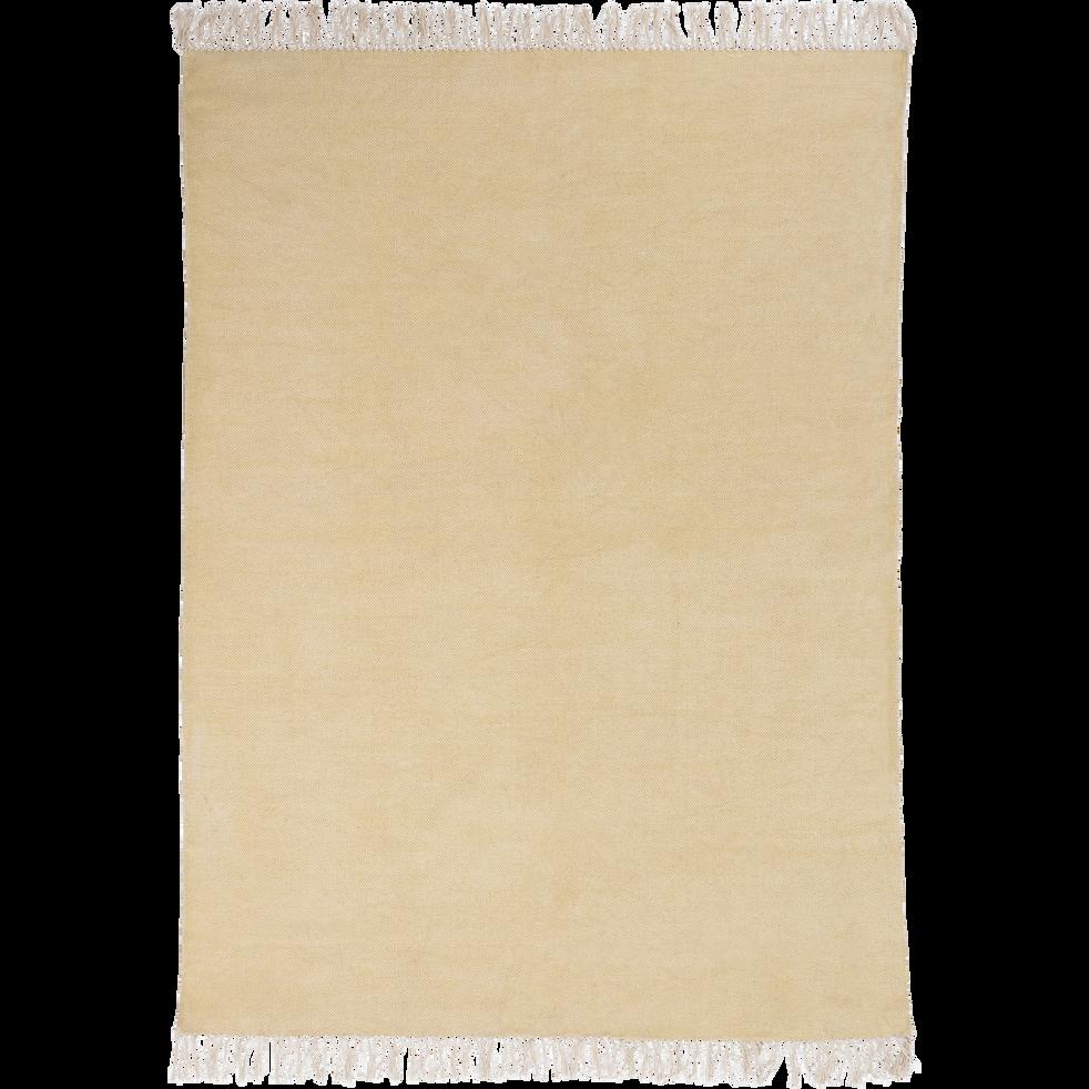 Tapis en coton beige roucas 100x150cm-PALMA