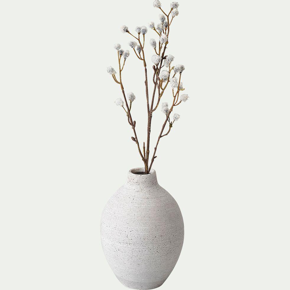 Vase en béton - D12,5xH17cm gris-CALCIS