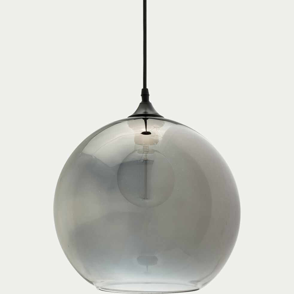 Suspension en verre - gris D30xH130cm-MARCELINO