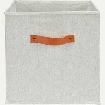 Panier de rangement en polycoton - gris 31x31cm-ERRO