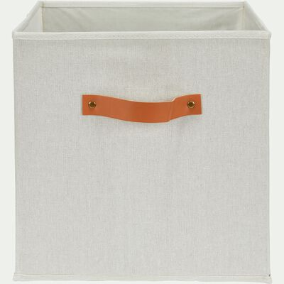 Panier de rangement en polycoton - blanc H31xL31cm-ERRO