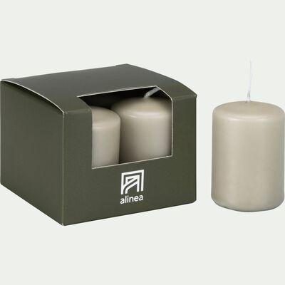 4 bougies votives vert olivier-HALBA