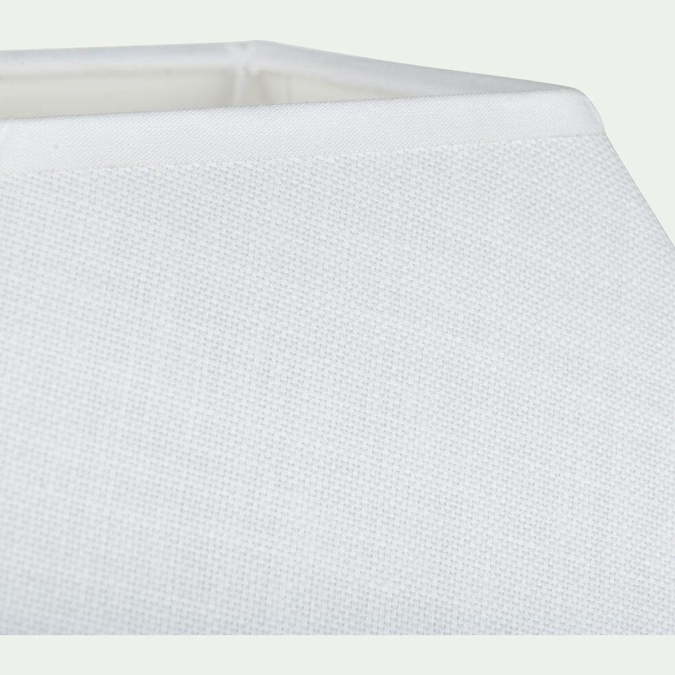 Abat-jour carré - blanc capelan D25cm-MISTRAL