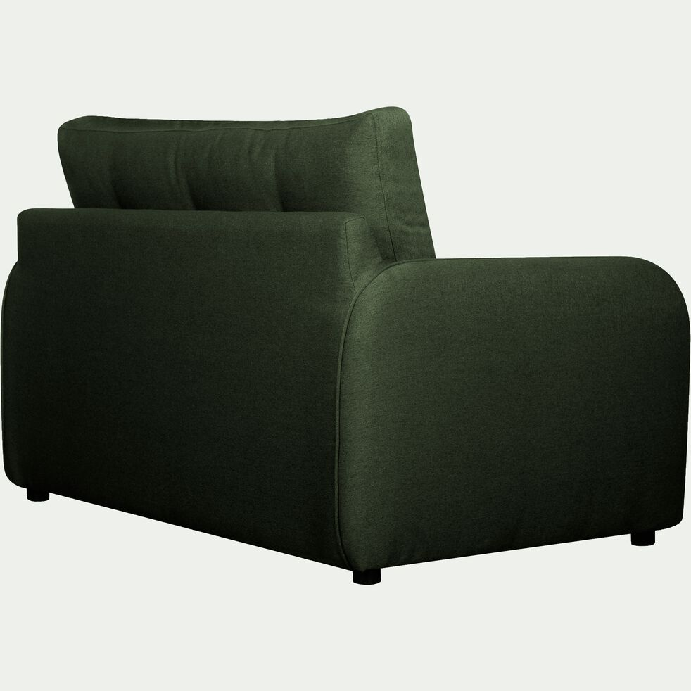 Canapé 2 places convertible déplimousse en tissu vert cèdre-VINYL
