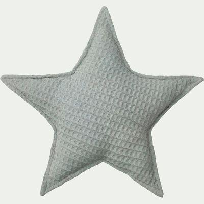 Coussin forme étoile 45x45cm - bleu-Aster