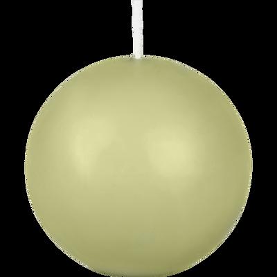 Bougie boule vert garrigue-HALBA