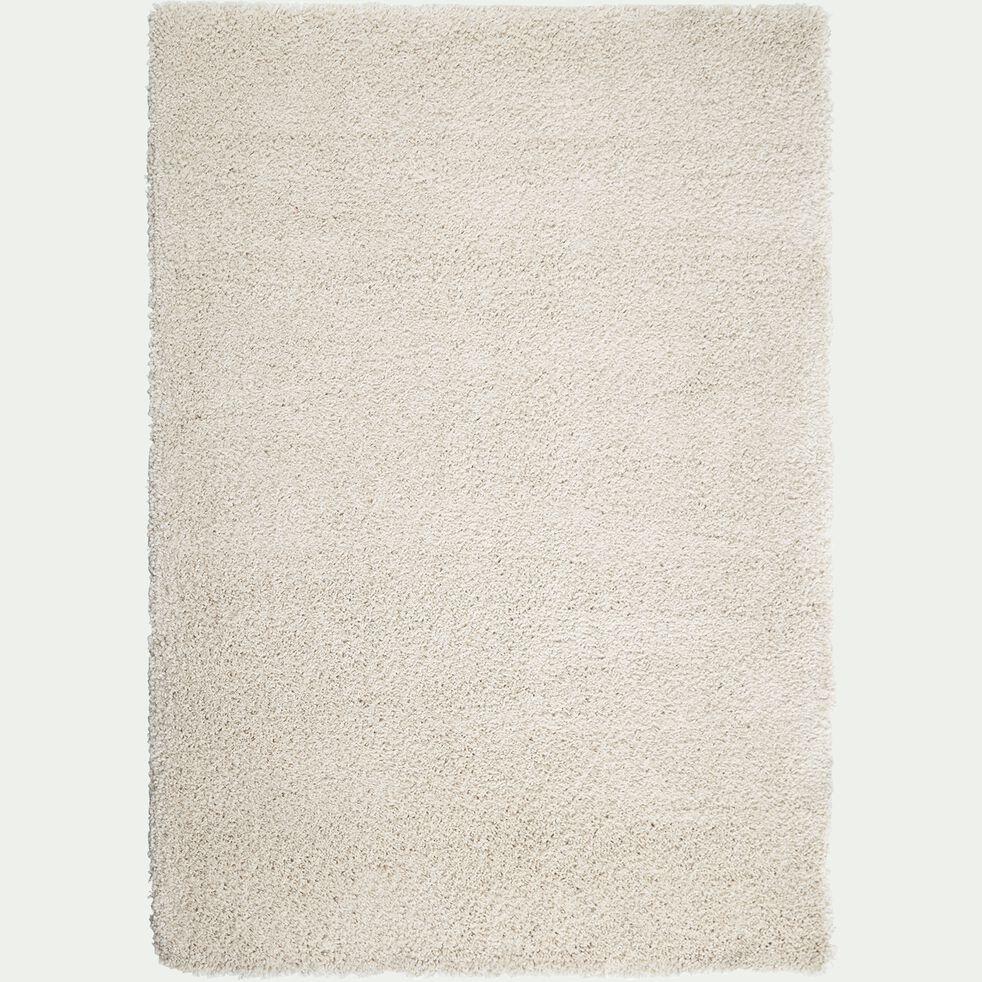 Tapis à poils longs - blanc écru 160x230cm-Kris