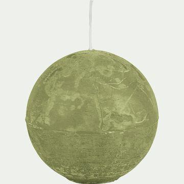 Bougie ronde vert garrigue D10cm-BEJAIA