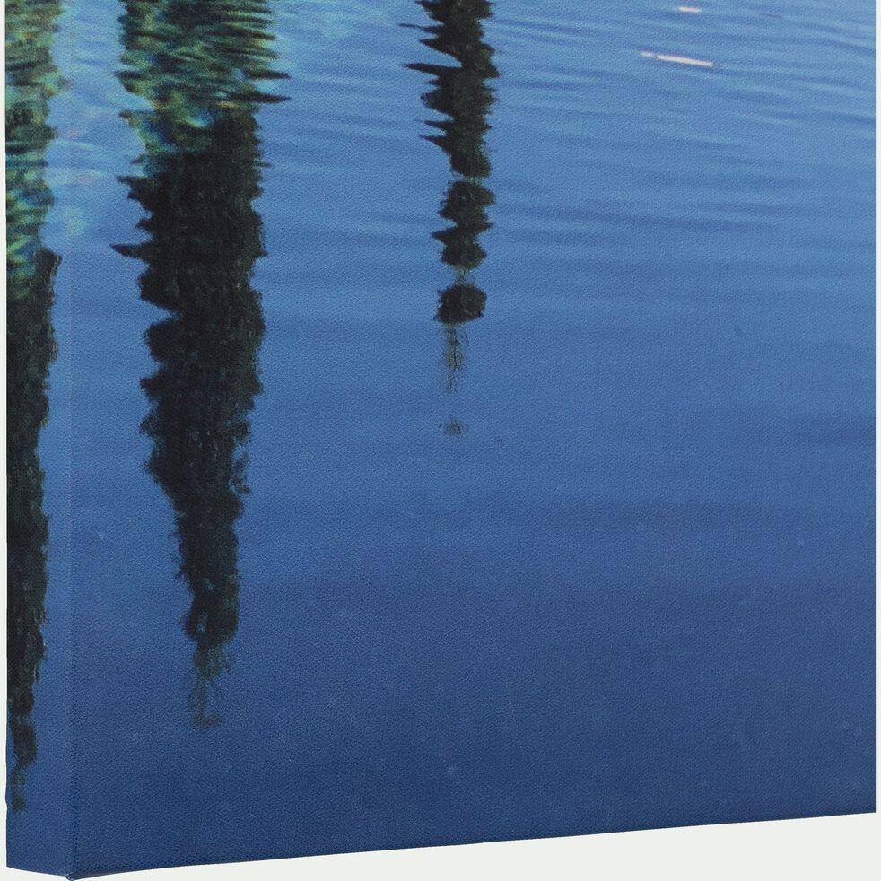 Toile imprimée bleu 50x70 cm-ADUST