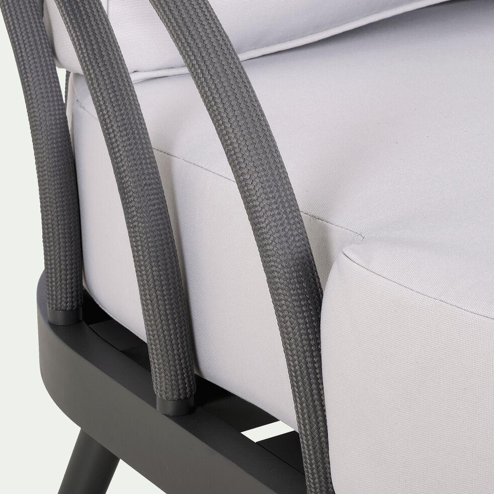 Canapé de jardin 2 à 3 places en aluminium - gris borie-Maara