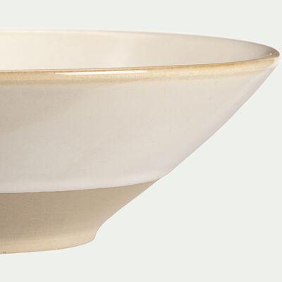Assiette creuse en grès blanc D20,5cm-ESQUIROU