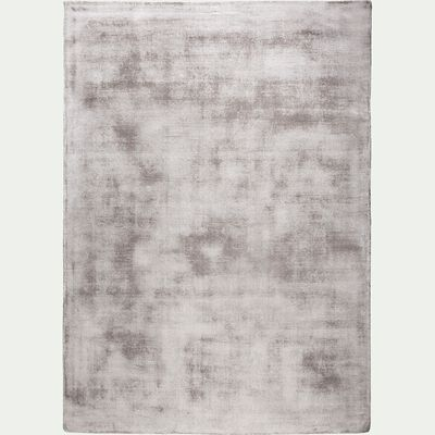 Tapis en viscose gris 160x230cm-TANSEN