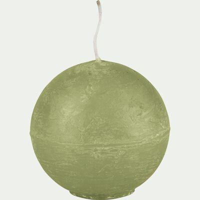 Bougie ronde vert garrigue D6cm-BEJAIA