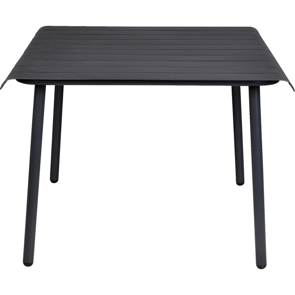 table de jardin grise en aluminium 2 4 places sandro tables de jardin alinea. Black Bedroom Furniture Sets. Home Design Ideas